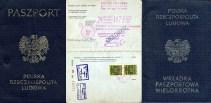 1972 Paszport i Wkladka