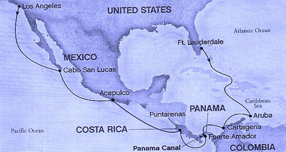 2010.09 Panama Cruise - Coral Princess - mapa
