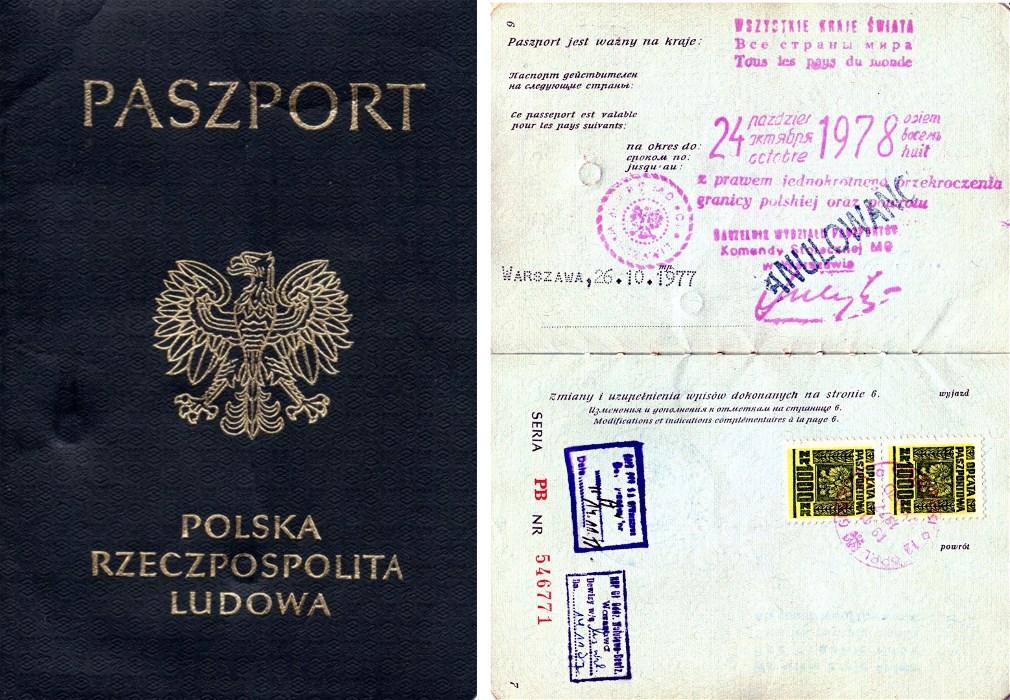 Paszport PRL 1